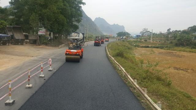 Thi công cải tạo, nâng cấp Quốc lộ 1 đoạn Bắc Giang - Lạng Sơn